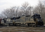 NS 8750 & 8429, tied down in the yard