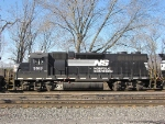 NS 5513, 3rd unit on a SB mixed freight