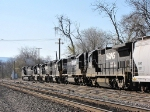 This mixed freight heads south