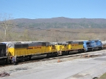 NS 8442, and a couple of ex-UP SD60 's give some nice color to this NB 55T