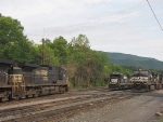 NS 9094, NS 9055 and NS 3528 meet at the cross walk in or
