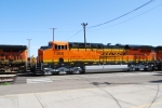 BNSF 7388 pulls out of BNSF Needles depot as BNSF 5188 a rear DPU on a eastbound Z passes by on Main 1.