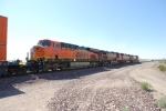 BNSF 7388 passes me by with BNSF 7430 as the 4th unit on the ZKCK-SBD stack train.