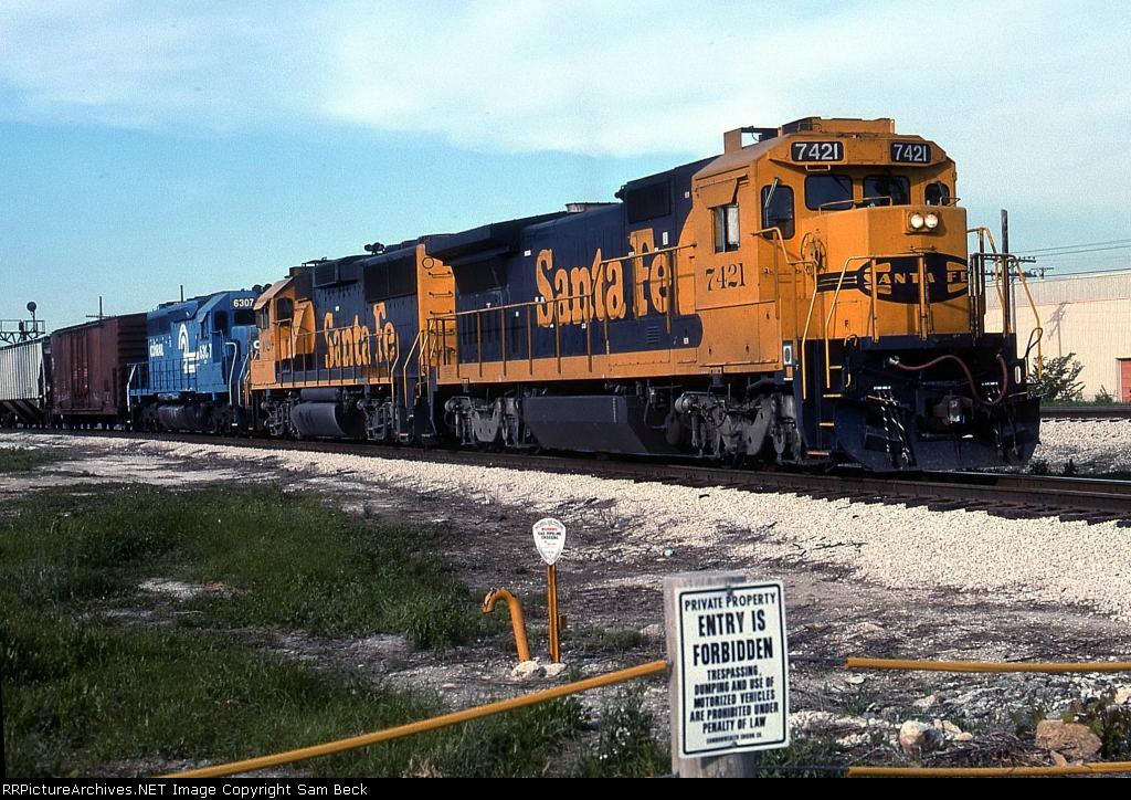 ATSF 7421, 4026, and CR 6307