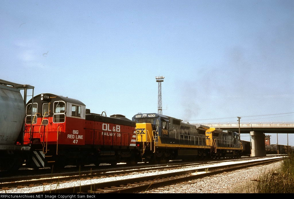OLB 47, CSX 7606, and 7604