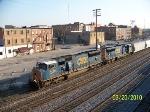 CSX 4734 leads train Q579 south