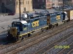 CSX 6056 leads train M735 (B'ham to Talledega Local)