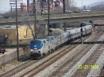 Amtrak 41 wiggling train from NS tracks to CSX track