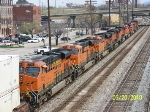 Plenty of power on Q184...heading towards BNSF yard
