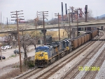 CSX loaded coal train T108 heading south