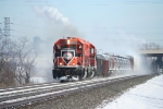 IHB Westbound kicks up the snow