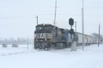 NS 9172 passing the holdout in the snow