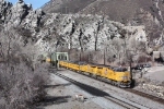 UP 7414 crossing the Weber River