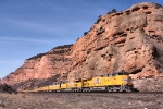 UP 7414 in Echo Canyon