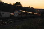 NS OCS Eastbound in the last minutes of Daylight.