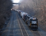 SD40E Helpers assist a westbound up Carney Hill