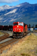 CN general freight starting of jasper yard