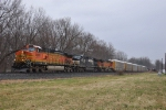 NS 11R with BNSF Leader!