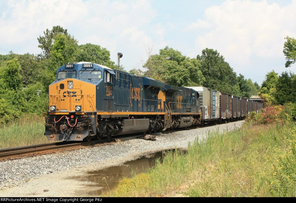 CSX 3051 and train D732