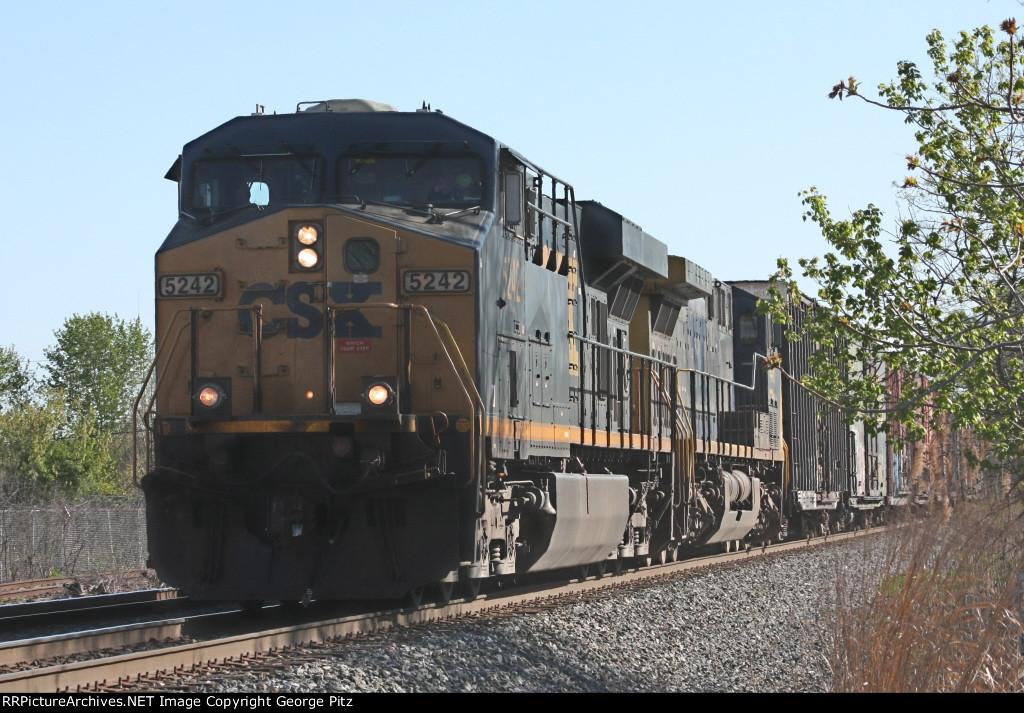 CSX 5242 and train D732