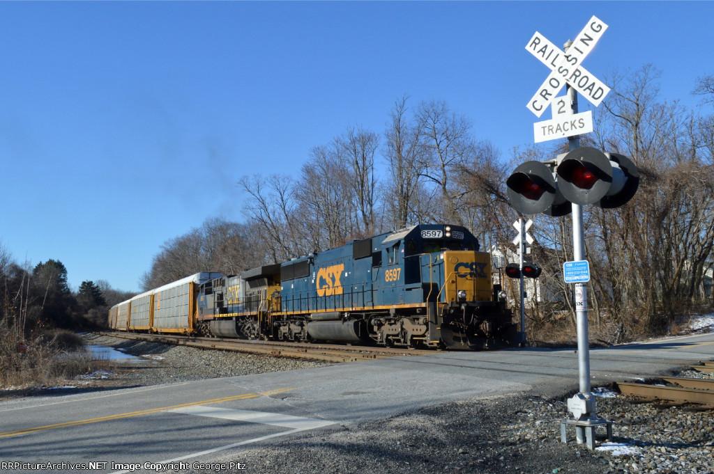 CSX 8597 and train Q216