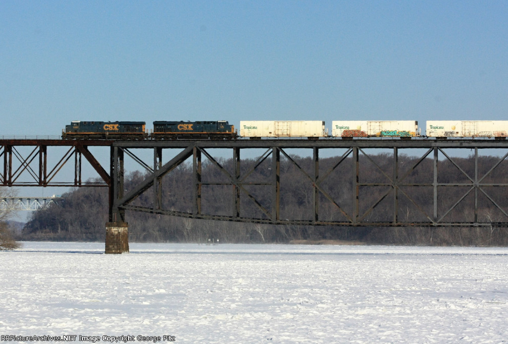 Tropicana train heads west