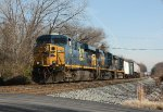 CSX train Q033 at Rosedale, MD