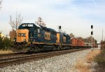 CSX 6424 with loaded ballast train