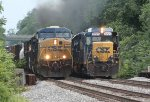 CSX 787 and 2225 at Rossville, MD