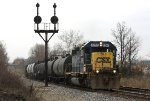 CSX 8261 and local freight D777