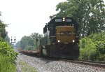 CSX 8528 with MW equipment flat cars
