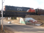 CN Passing Above Second St