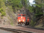 CN Rolling Out Of The Rockcut