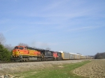 BNSF 4785 On NS 288 Westbound At The Pines
