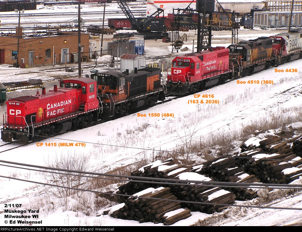 A quartet of Milwaukee Road power chillin'