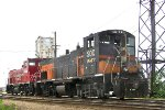 SOO 1547 is paired for the east yard shuffle
