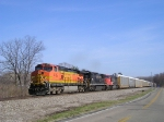 BNSF 4785 On NS 288 Westbound Elephant Style