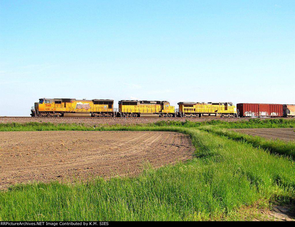 UP 5148, UP 2011, & UP 9404 on MASPR-21.