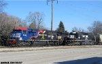 Veterans unit # 6920 passes Ex-Conrail 3388
