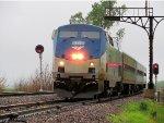 Amtrak 306 w/ AMTK 147 takes siding for Amtrak 21