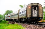 Amtrak 306 w/ AMTK 147 in the siding for Amtrak 21