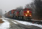 BNSF 4713 & BNSF 669 lead Intermodel @ Clay