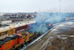 BNSF 553, BNSF 500, BNSF 2783, BNSF 2356, BNSF 3135, & BNSF 2391 smoking up a storm!