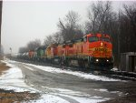 BNSF 553, BNSF 500, BNSF 2783, BNSF 2356, BNSF 3135, & BNSF 2391 lead local @ Clay