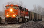 BNSF 6076 leads Coal Drag