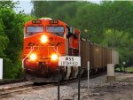 BNSF 6189 leads loaded coal drag