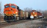 BNSF 6258 meets BNSF 5078