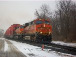 BNSF 7249 & BNSF 4317 lead Intermodel @ Clay