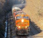 BNSF 7274 & BNSF 755 lead Crude Oil Train
