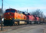 BNSF 7474, CP 8502, & CP 8578 lead Grain